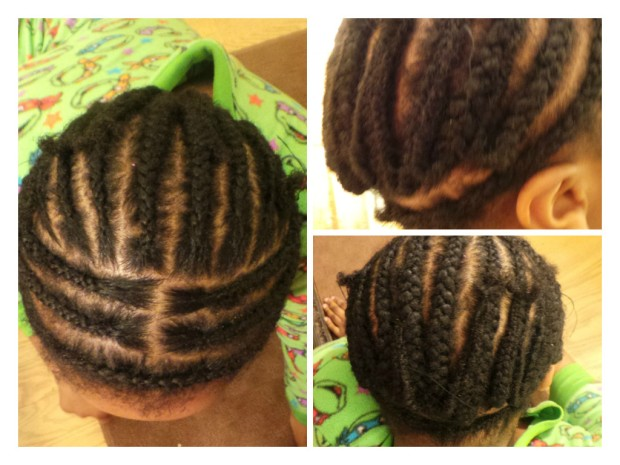 Crochet Hair Styles Step By Step : For Moyo?s hair, I had one braid circling her head, and the rest ...