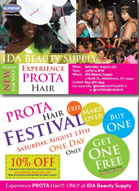 Prota Hair, wig sale, clip in extensions, Middletown NY, iDa Beauty Supply store